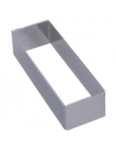 Cadre rectangle inox 16.4x3.2cm