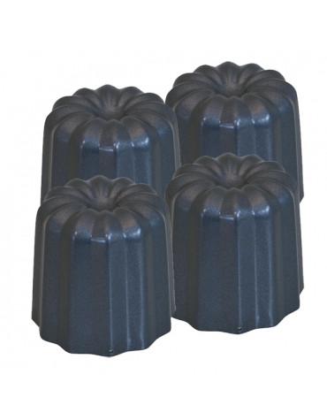 de buyer Lot de 4 moules canelé bordelais d5.5cm de buyer