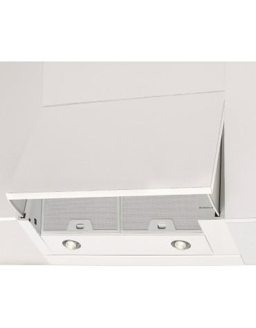 Hotte escamotable 60cm 71db 850m³/h blanc