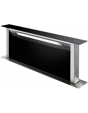 de dietrich Hotte plan de travail 90cm 503m³/h verre noir/inox de dietrich