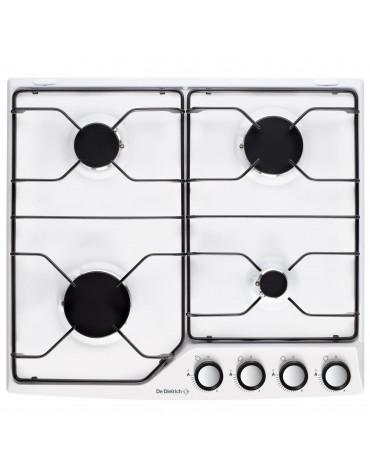 Table de cuisson gaz émail 4 feux blanc