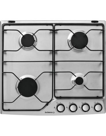 Table de cuisson gaz émail 4 feux inox