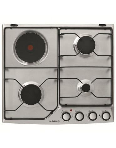 Table de cuisson mixte émail 4 feux inox