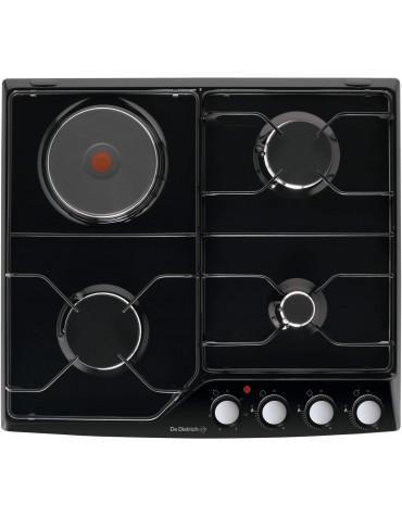 de dietrich Table de cuisson mixte émail 4 feux noir de dietrich