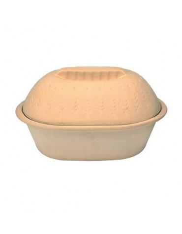 digoin ceramique Cocotte ovale en grès brut 35x23cm digoin ceramique