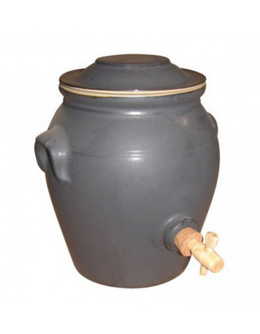 digoin ceramique Vinaigrier traditionnel en grès 4.7 l étain digoin ceramique