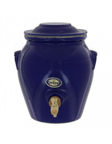 digoin ceramique Vinaigrier traditionnel en grès 4l bleu indigo digoin ceramique