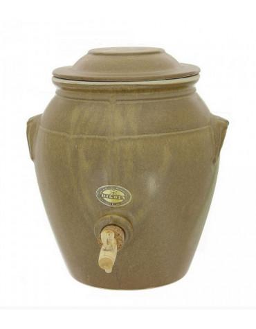 Vinaigrier traditionnel en grès 4l grès mat