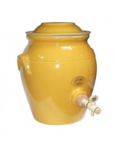 digoin ceramique Vinaigrier traditionnel en grès 4l jaune provence digoin ceramique