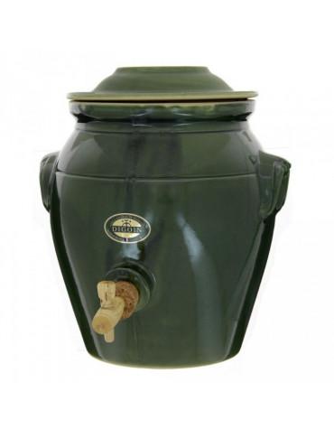 digoin ceramique Vinaigrier traditionnel en grès 4l vert garrigue digoin ceramique