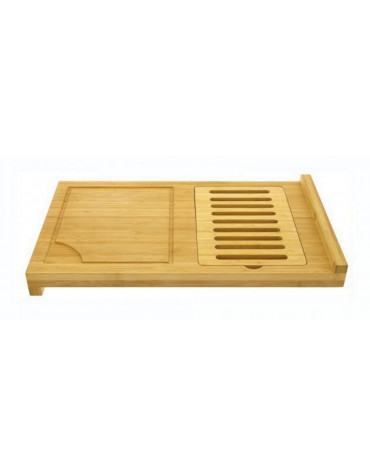 Plan de travail avec planche à pain amovible bambou 30x52cm.