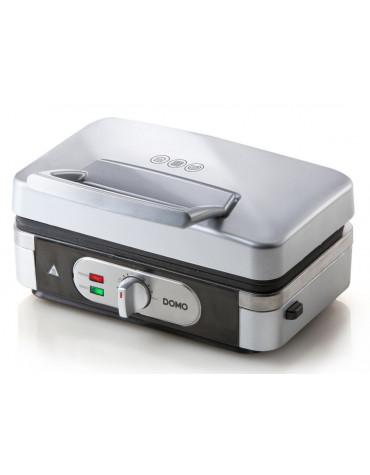 Croque-gaufre-grill 3en1 1000w argent/noir