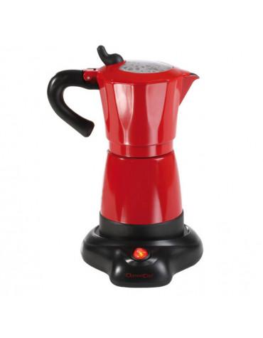 Cafetière italienne électrique 6 tasses 480w rouge/noir