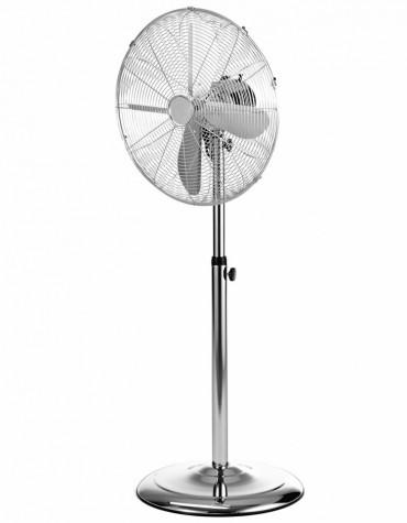 domoclip Ventilateur sur pied 45cm 60w argent domoclip