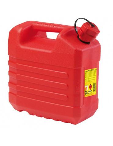 eda Jerrican hydrocarbure 20l avec bouchon verseur rouge eda