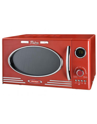 Micro-ondes + grill 25l 1000w rouge