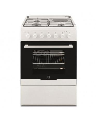 electrolux Cuisinière mixte a 54l 4 feux blanc electrolux