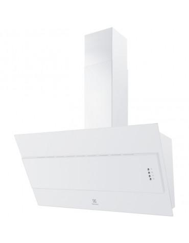 electrolux Hotte décorative inclinée 60cm 600m3/h blanc electrolux
