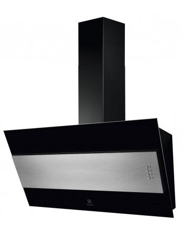 electrolux Hotte décorative inclinée 60cm 600m3/h noir electrolux