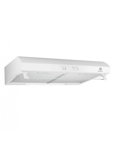 electrolux Hotte visière 60cm 65db 272m3/h blanc electrolux