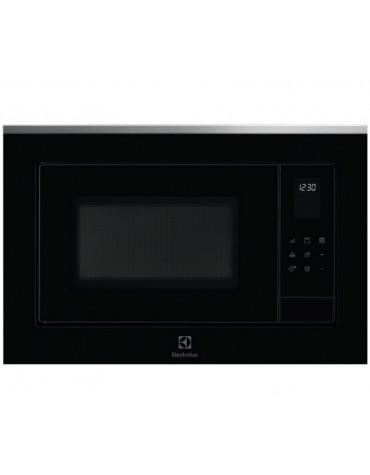 Micro-ondes gril encastrable 25l 900w noir/inox