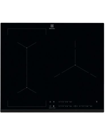 electrolux Table de cuisson à induction 59cm 3 feux 7200w flexinduction noir electrolux