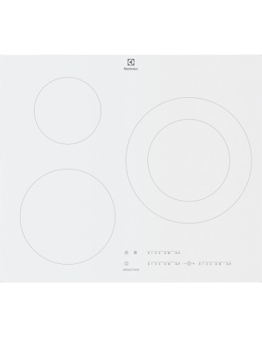 electrolux Table de cuisson à induction 59cm 3 feux 7350w blanc electrolux