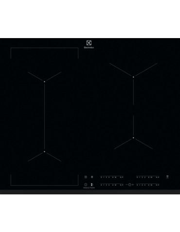 electrolux Table de cuisson à induction 59cm 4 feux 7200w flexinduction noir electrolux