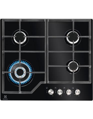 Table de cuisson gaz 59cm 4 feux 8900w noire