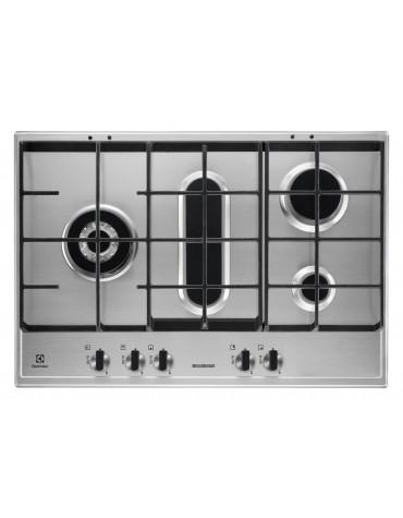 electrolux Table de cuisson gaz 75cm 5 feux inox electrolux