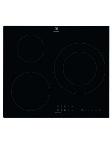 electrolux Table de cuisson induction 60cm 3 feux 7200w noir electrolux