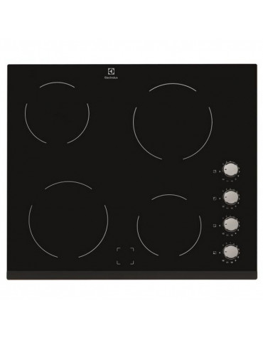 electrolux Table de cuisson vitrocéramique 60cm 4 feux 6000w noir electrolux