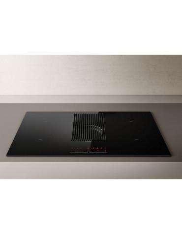 elica Table de cuisson aspirante à induction 83cm 4 feux 7400w noir elica