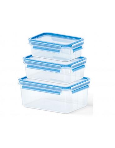 emsa Lot de 3 boîtes alimentaires plastique 0.55l, 1l et 2,3l emsa