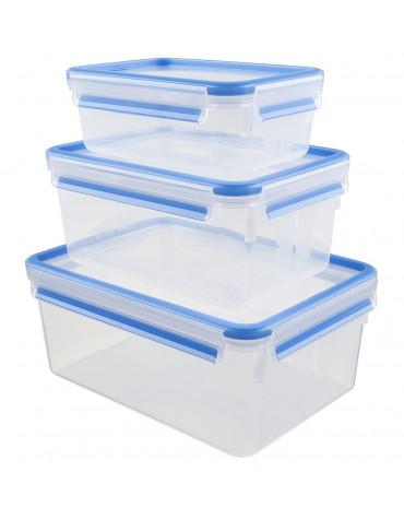 emsa Lot de 3 boîtes alimentaires plastique 1l, 2,3l et 3,7l emsa