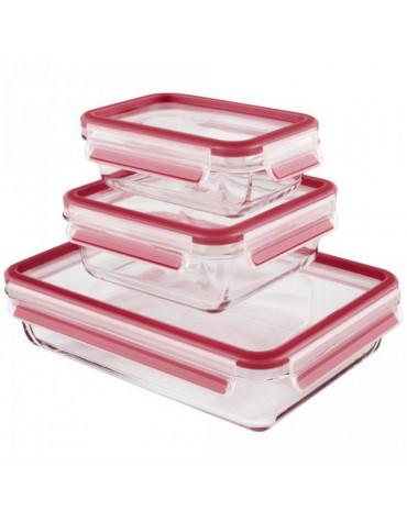 emsa Lot de 3 boîtes alimentaires verre 0,5l, 0,9l et 2l emsa