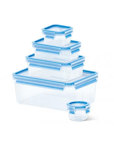 emsa Lot de 5 boîtes alimentaires plastique 0.15l, 0.25l, 0.55l, 1l et 3.7l emsa