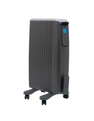 ewt radiateur à bain d'huile 1500w anthracite evorad15a