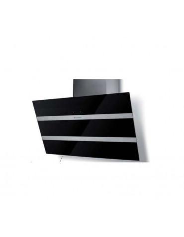 faber Hotte décorative inclinée 80cm 68db 730m3/h noir/inox faber