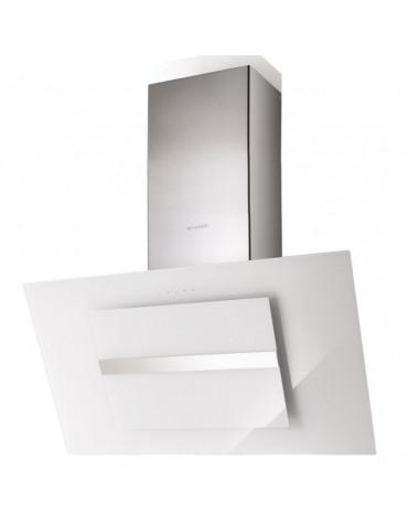faber Hotte décorative inclinée 90cm 570m3/h blanc/verre faber