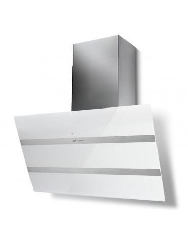 faber Hotte décorative inclinée 90cm 840m3/h inox/verre blanc faber