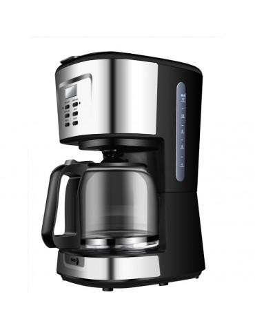 Cafetière filtre programmable 12 tasses 900w noir/inox