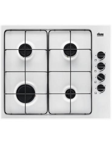 faure Table de cuisson gaz 59cm 4 feux 78300w blanc faure