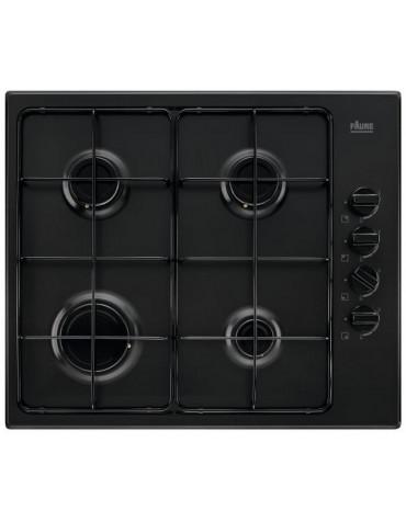 faure Table de cuisson gaz 60cm 4 feux 8000w noir faure