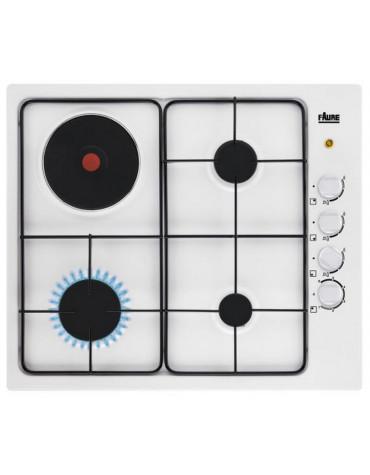 faure Table de cuisson mixte 60cm 4 feux blanc faure