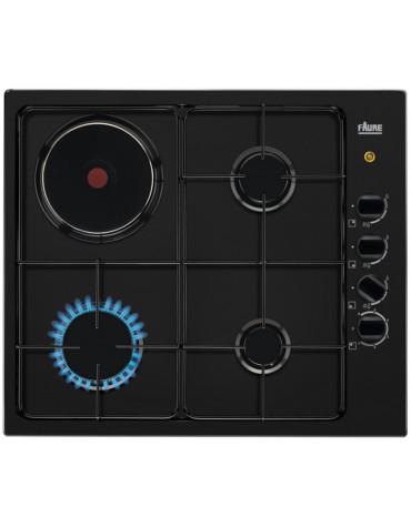 faure Table de cuisson mixte 60cm 4 feux noir faure