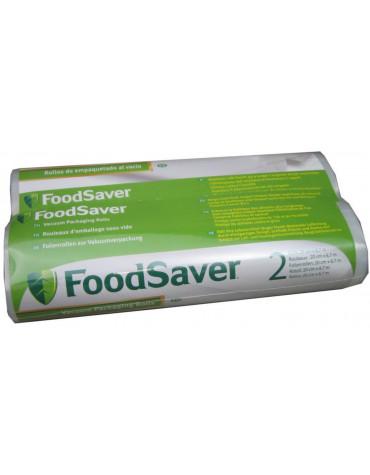 foodsaver Lot de 2 rouleaux de sacs 20cm pour appareil à emballage sous vide foodsaver