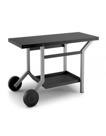 Chariot pour plancha gris/noir