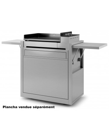 forge adour Chariot pour plancha inox forge adour