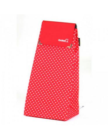 Sac pour poussette de marché 55l rouge